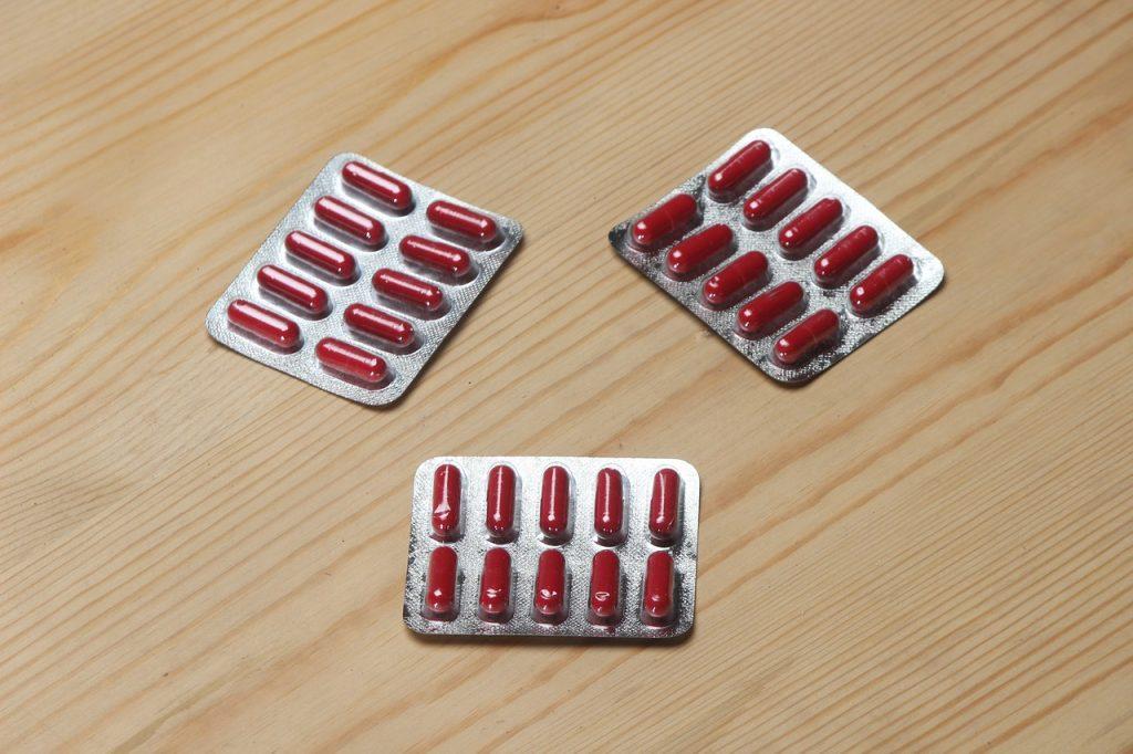 comprimés rouges